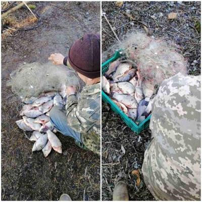 У Збур'ївському Куті затримано чергових порушників з 50 кг риби