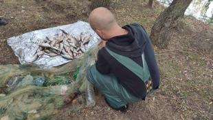 На Каховському водосховищі затримано порушників з 28 кг риби та збитками понад 8 тис. грн
